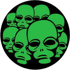 Alien Faces Vector Image by Vectorportal, on Flickr Re-coloured